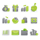 Set of 12 interactive glossy web icons. - ActiveDen Item for Sale