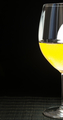 Wineglass with white wine