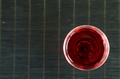 Red Wine In A Wine Glass. The Top View