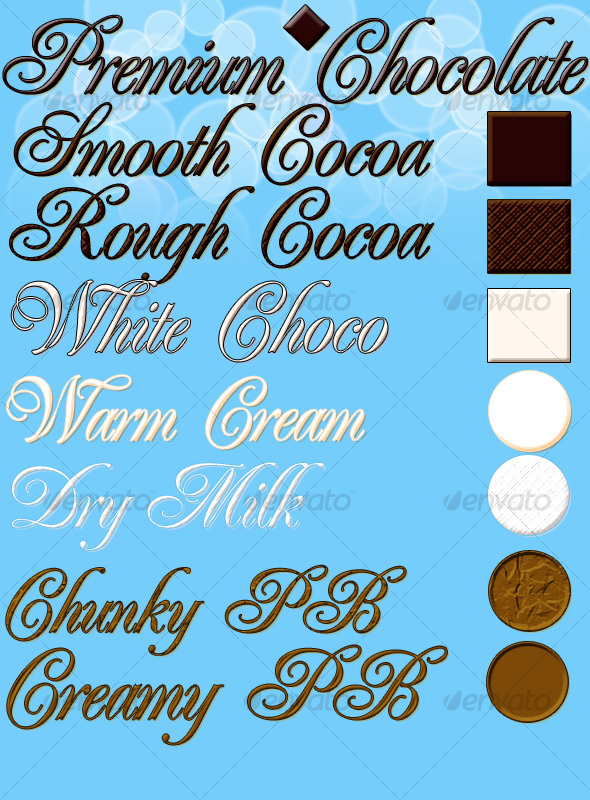 Premium Chocolate - 8 Layer Styles - Text Effects Styles