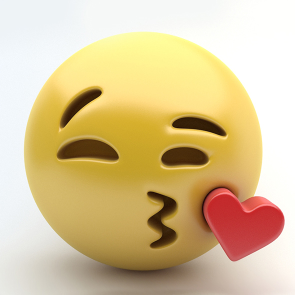 Emoji kissing - 3DOcean Item for Sale