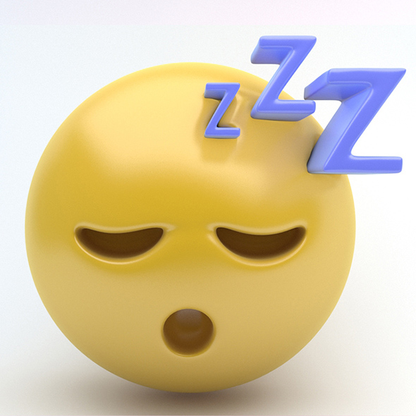 EMOJI sleep - 3DOcean Item for Sale