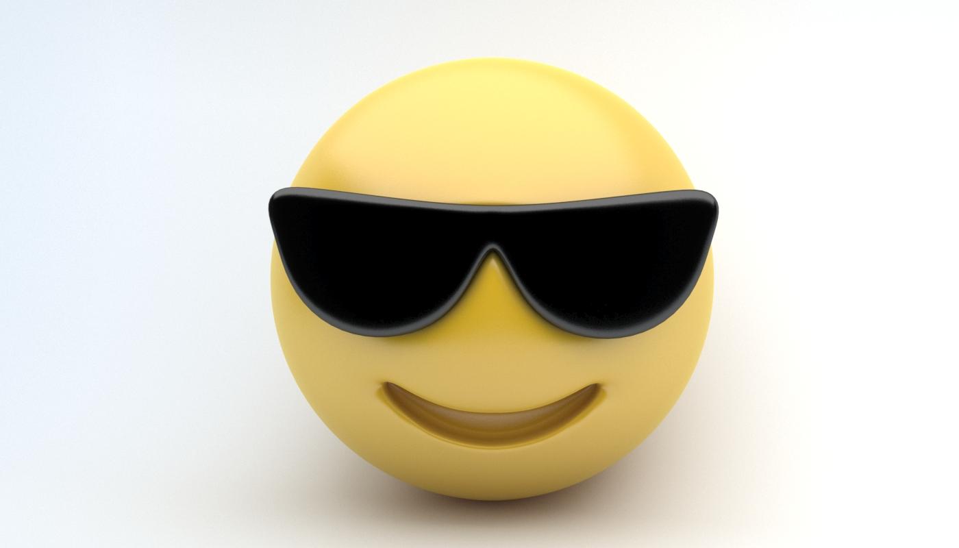 Emoji With Sunglasses  emoji sunglasses by sanromangabriel 3docean