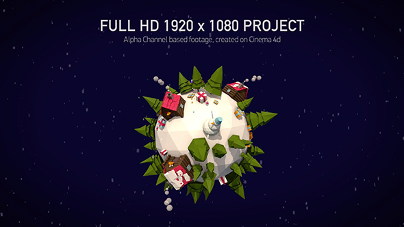 Download Christmas Planet Rotation Footage nulled download