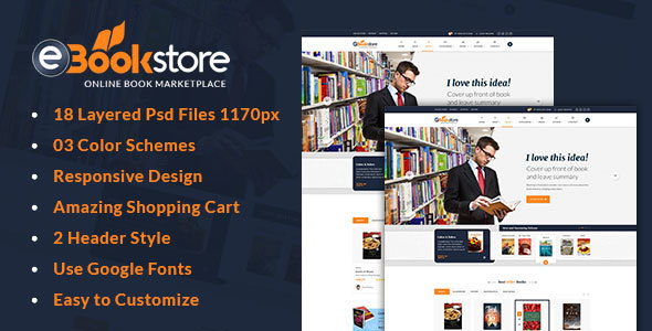 book store html template bookstore retail