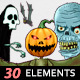 Halloween Horror Theme 30 Elements