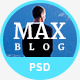 Max Blog - Personal Blog PSD Template