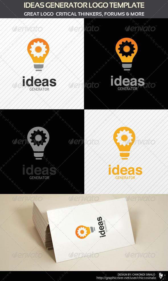 Ideas Generator Logo Template - Abstract Logo Templates