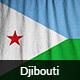 Ruffled Flag of Djibouti