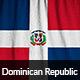 Ruffled Flag of Dominican Republic