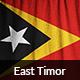 Ruffled Flag of East Timor