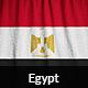 Ruffled Flag of Egypt