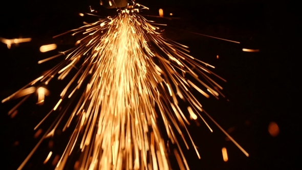 VideoHive Sparks Frying During Metal Grinding 18575763