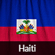 Ruffled Flag of Haiti
