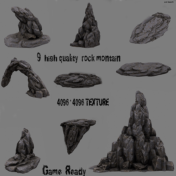 rocks 1 - 3DOcean Item for Sale