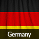 Ruffled Flag of Germany