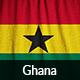 Ruffled Flag of Ghana
