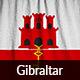 Ruffled Flag of Gibraltar