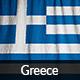 Ruffled Flag of Greece