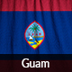 Ruffled Flag of Guam