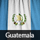 Ruffled Flag of Guatemala