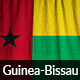 Ruffled Flag of Guinea-Bissau