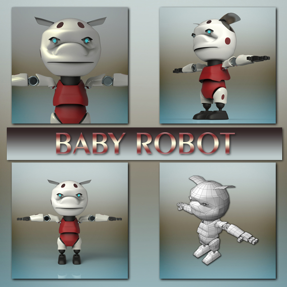 Baby Robot - 3DOcean Item for Sale