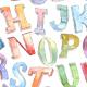 Watercolor 3D Font