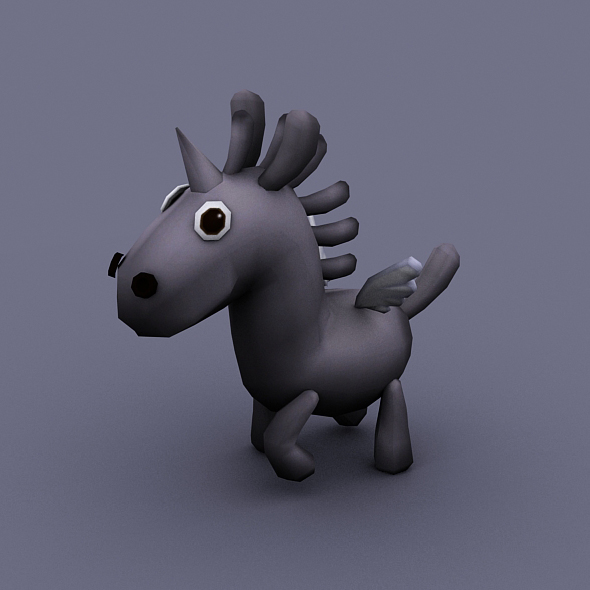 funny horse gray - 3DOcean Item for Sale