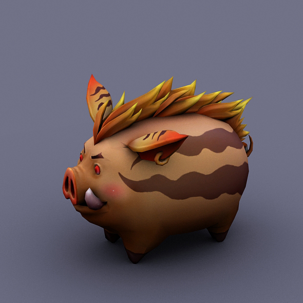 funny boar brown - 3DOcean Item for Sale