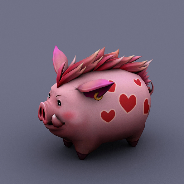 funny boar love - 3DOcean Item for Sale