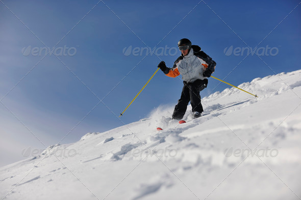 Stock Photo - PhotoDune ski freeride 1829988