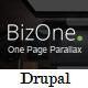 BizOne - One Page Parallax Drupal Theme