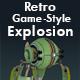 Retro Game-Style Explosion