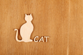 Wooden cat silhouette