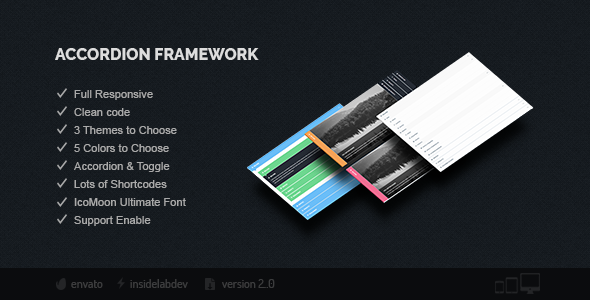 Accordion Framework - CodeCanyon Item for Sale