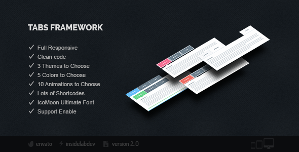 Tabs Framework - CodeCanyon Item for Sale
