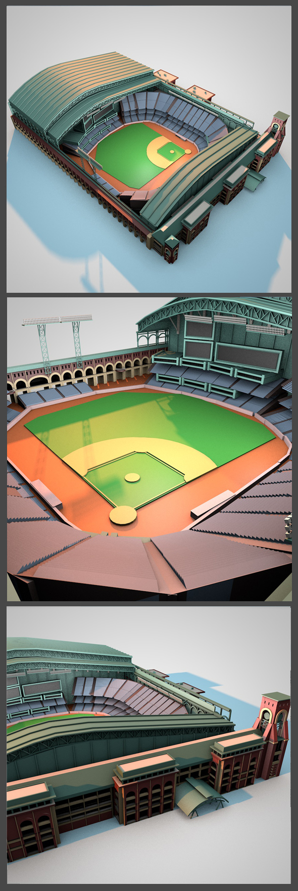 Minute Maid Park - 3DOcean Item for Sale