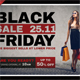Black Friday Postcard Template V04
