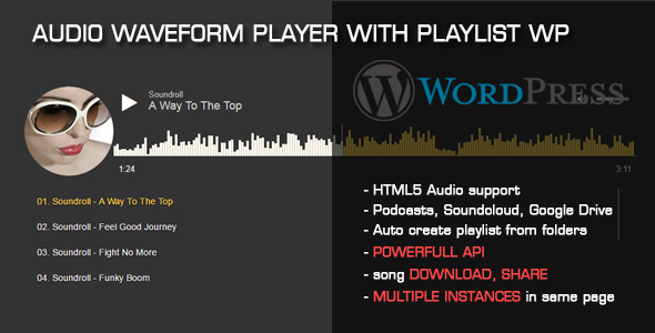 Audio Waveform Player with Playlist WP Plugin (Media)
