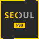 Seoul - Personal Resume PSD Template