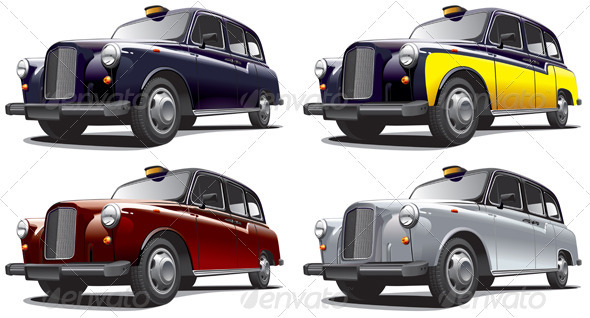 Classical Car No2 - Objects Vectors
