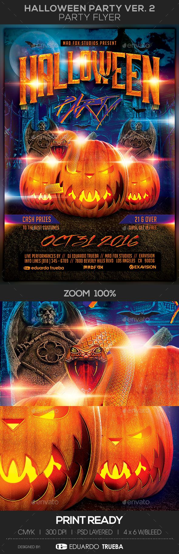 Halloween Party Flyer Ver. 2