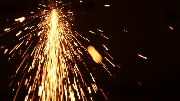 VideoHive Sparks Frying During Metal Grinding 18591329