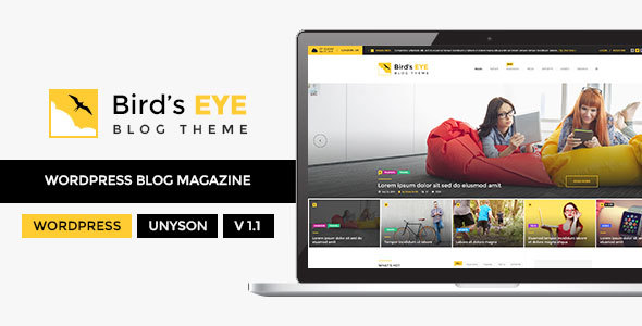 Blog - WordPress Blog Theme - Birds Eye