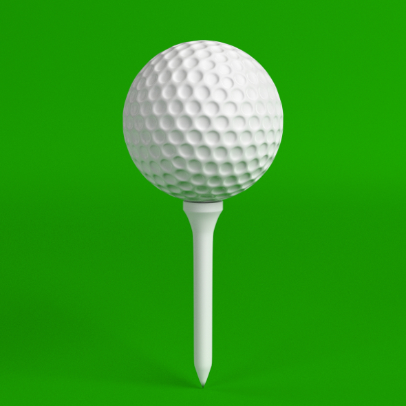 Golf ball and Tee set - 3DOcean Item for Sale