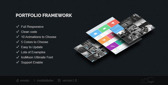 Portfolio Framework - CodeCanyon Item for Sale