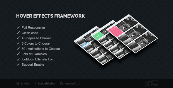 Hover Effects Framework - CodeCanyon Item for Sale