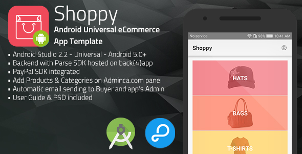 Download Shoppy | Android Universal eCommerce App Template nulled download