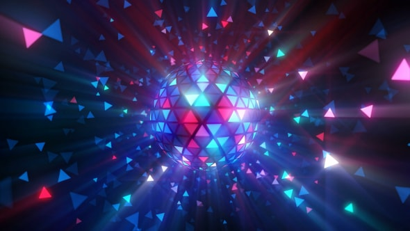 VideoHive Disco Ball Triangles Rays 18598260